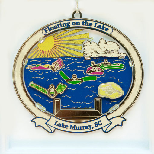 Lake Murray Ornament - Floating on the Lake